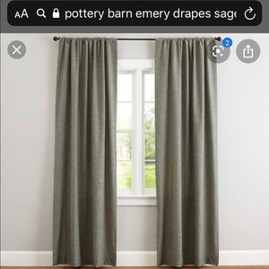 Pottery Barn Curtains (4 panels) - BRAND NEW